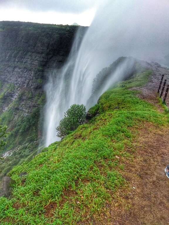 No, this picture is not upside down, this is a reverse waterfall in Sandhan Valley.