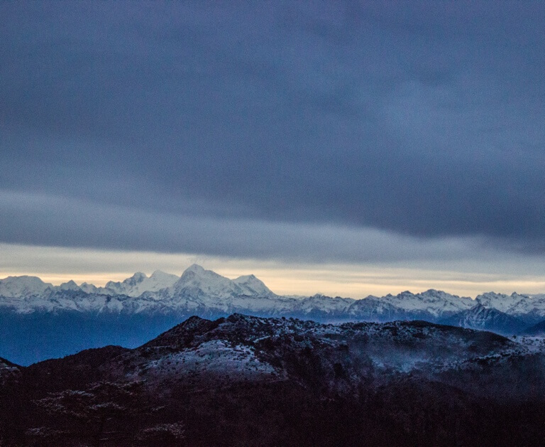 Clouds and ice and everything nice.Witness 4 of 5 highest peaks from this vantage point.